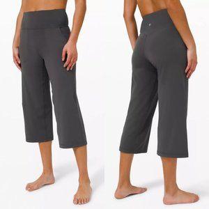 lululemon NWT Align Wide Leg Crop Graphite Grey